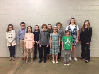 2019 Otoe County 4-H Speech Contest Results