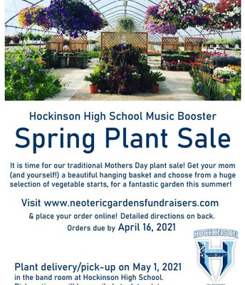 Music Boosters Plant Sale