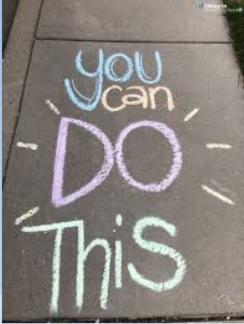 Sidewalk Chalk at AHS