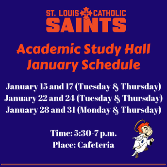 Academic Updates - Note Study Hall Schedule Changes