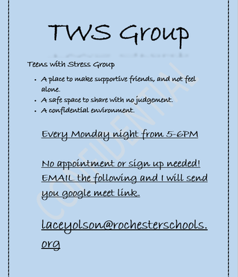 Teens with Stress Group