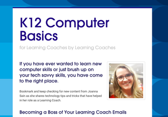K12 Computer Basics for Learning Coaches by Learning Coaches