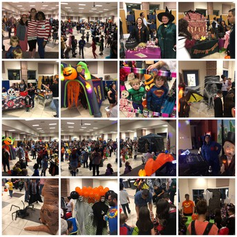 Amazing turnout for Trunk or Treat!