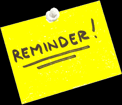DISTANCE LEARNING REMINDERS