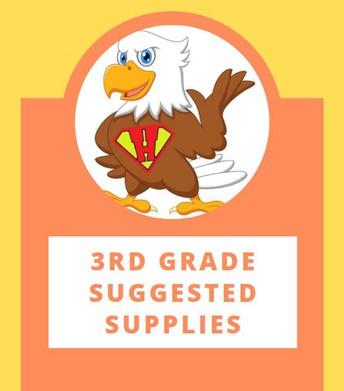 3rd Grade Suggested School Supply List