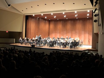 Mr. Peterson directs the Wind Symphony