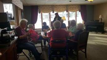 Valentines Day Visit to Care Centers