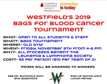 Student/Teacher Bags Tournament for Leukemia & Lymphoma Society