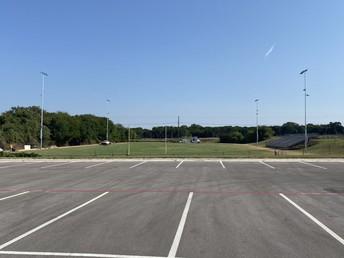 New practice field and lights @ Bonham