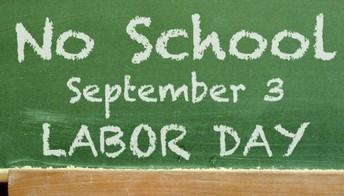 No hay Escuela/Labor Day