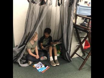 Reading Tent in Mrs. Kurtz's Classroom