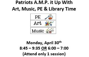 Art, Music, PE & Library Time