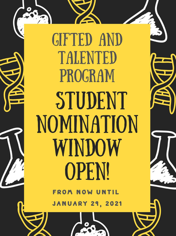Gifted and Talented Nominations