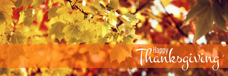 Happy Thanksgiving Fall Leaves