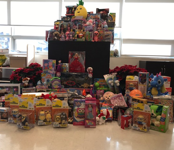Toys for Tots fill a Truck Load