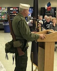 Mr. Iaia - Navy Seebees, adresses the veterans