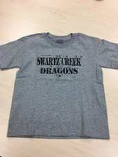 SC Dragons-Distressed Design T-Shirt-Grey