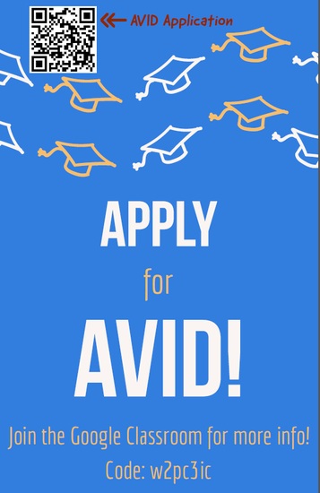 Click Here for AVID Application