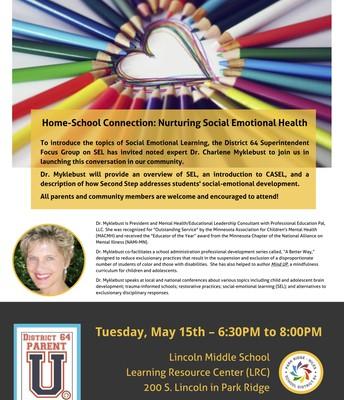 D64 Parent Social Emotional Learning University Flyer