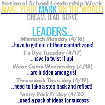LEADERSHIP WEEK - Spirit Days