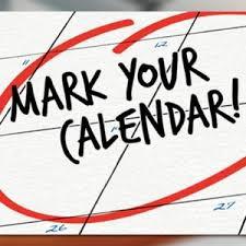 Calendar Updates for March -- Begins Next Week!