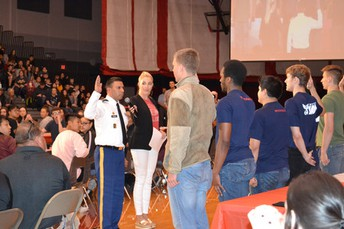 United States Military Swearing In Ceremony