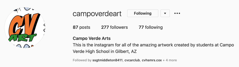 Campo Verde Arts Instagram