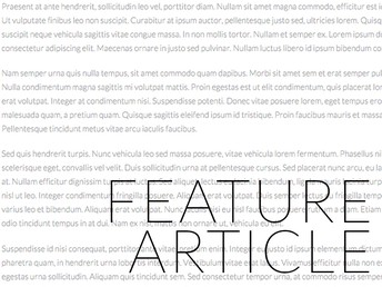 Ms. McLeod's 6th Graders Published their Feature Articles
