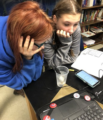 Watching the temperature sensor on their computer