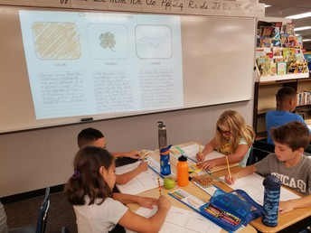 3rd Graders In Mrs. Welke's Class doing a Visible Thinking Routine