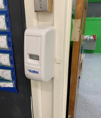 NEW Touchless Hand Sanitizer Dispensers in Every Classroom