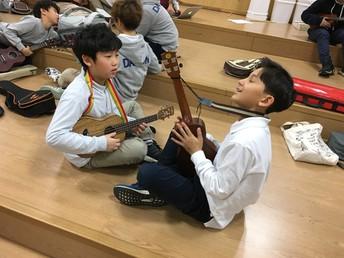 Making music with ukulele