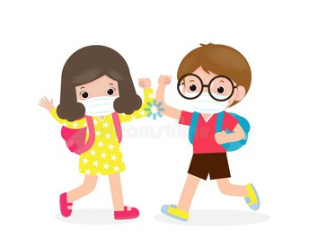 We will practice social distancing while at school!