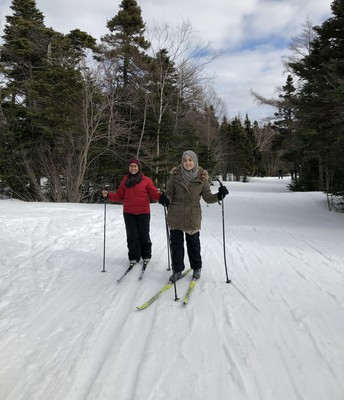 First time on cross country skis