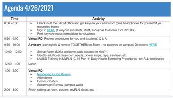 PD Agenda 4/26