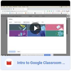 Intro to Google Classroom Video Tutorial