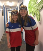 Twin Day: Buddies Rylee & Caroline!