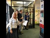 Bridges staff greeting students