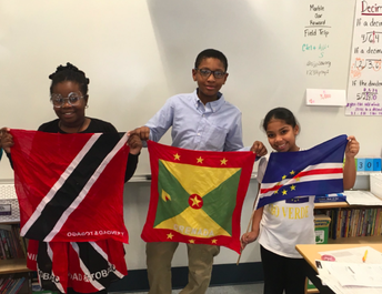 What beautiful colors! Grade 4, thank you for sharing your flags!