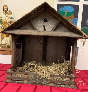 Waiting to tell the Christmas Story of Baby Jesus' birth
