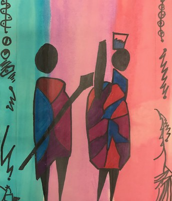 4th Grade Maasai Art