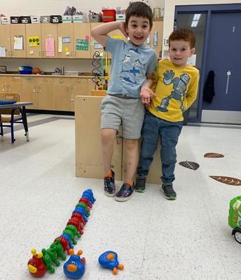 Pathways friends built a caterpillar