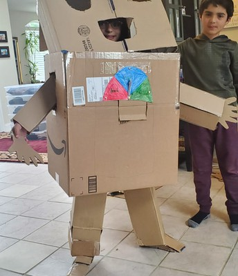 Andrew and Anabelle created a robot!