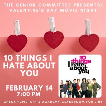 Senior Committee Presents: Valentine's Day Movie Night