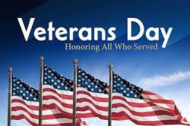 Veterans Day - October 11th