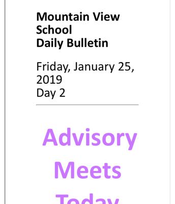 "Select ""Daily Bulletin"""