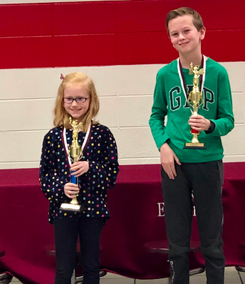 Congratulations to Lily- 1st place and Jack- 2nd place