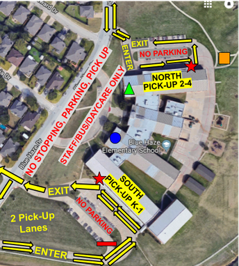 Afternoon Dismissal Map
