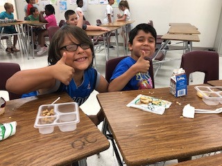 Lunch with Friends at Dyslexia Summer Camp