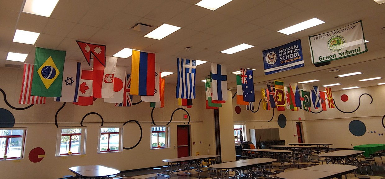 Country's Flags in VO Cafeteria